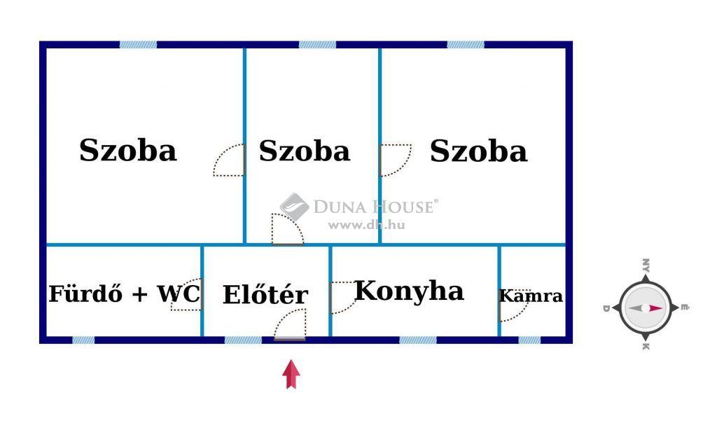 Eladó Ház, Csongrád megye, Csongrád - Háromszobás, jó állapotú családi ház