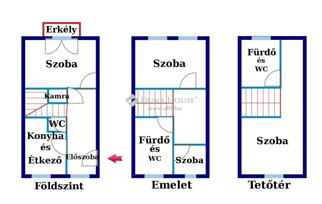 Eladó Lakás, Budapest - Óhegy park közelében, 2007-ben épült házban, belső 3 szintes, 94 nm-es, 2 +2 félszobás, DUPLAKOMFORTOS, erkélyes tégla lakás, autóbeáállóval és tárólóval!