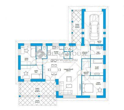 Új építésű tégla házak