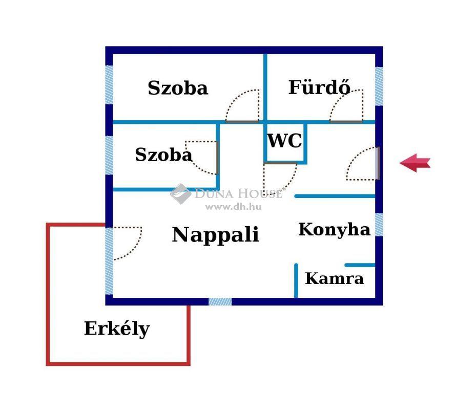 Eladó Lakás, Budapest - Újszerű, 2008-ban épült házban, 2 emeleti, 70 nm -es, 3 szobás, erkélyes, klímás lakás!