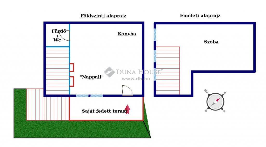 Eladó Lakás, Budapest - Belső kétszintes jó állapotú lakás, fedett terasszal, nagyon jó elhelyezkedéssel!