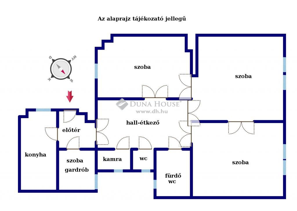 Eladó Lakás, Budapest - Lónyay utca legpatinásabb épületében 105 nm felújított 3 szoba+hallos